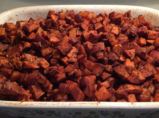 Healthy Roasted Cinnamon Sweet Potatoes - If Tom Can Do It You Can Do It